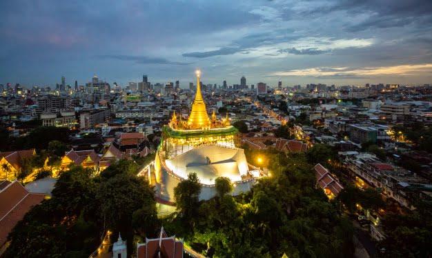 """""""Wat Saket"""" The Golden Mountain Temple in Bangkok"""