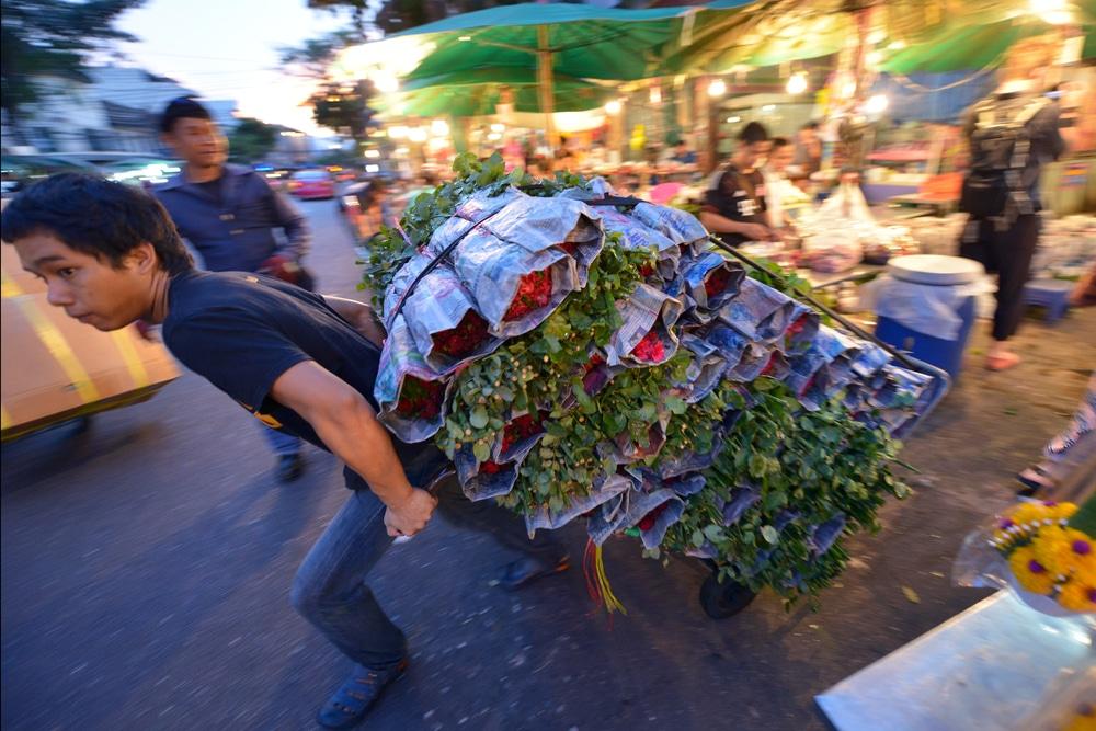 Thai flower market